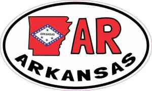 Oval AR Arkansas Sticker