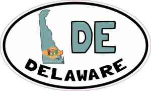 Oval DE Delaware Sticker