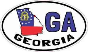 Oval GA Georgia Sticker