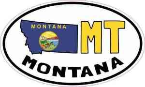 Oval MT Montana Sticker
