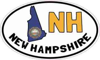 Oval NH New Hampshire Sticker