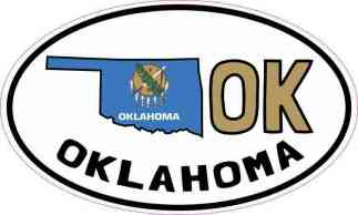 Oval OK Oklahoma Sticker