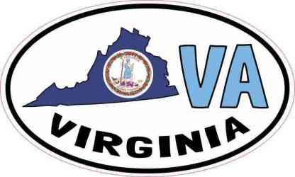 Oval VA Virginia Sticker
