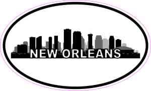 Oval New Orleans Skyline Sticker