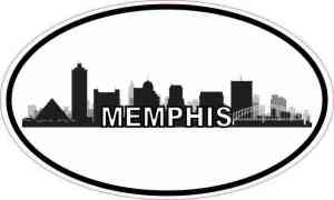 Oval Memphis Skyline Sticker