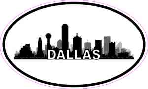 Oval Dallas Skyline Sticker