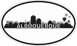 Oval Albuquerque Skyline Sticker