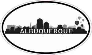 Oval Albuquerque Skyline Sticker