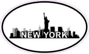 Oval New York Skyline Sticker