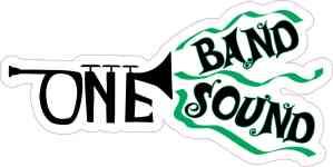 Green Trumpet One Band One Sound Sticker