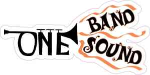 Orange Trumpet One Band One Sound Sticker