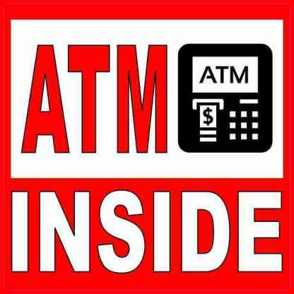 Picture Red and White ATM Inside Magnet