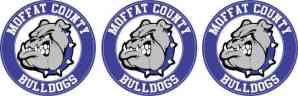 Moffat County Bulldogs Circle Stickers