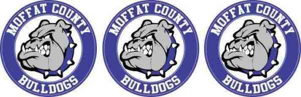 Moffat County Bulldogs Circle Stickers