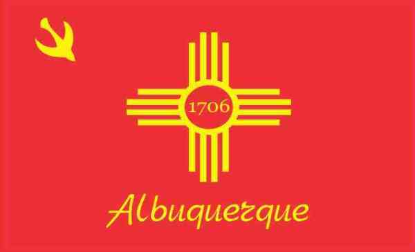 Albuquerque New Mexico Flag Sticker