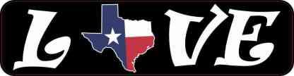 Love Texas Bumper Sticker
