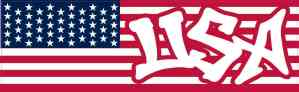 Graffiti USA American Flag Magnet