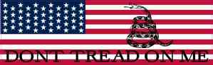 American Flag Dont Tread on Me Magnet