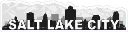 Salt Lake City Skyline Sticker