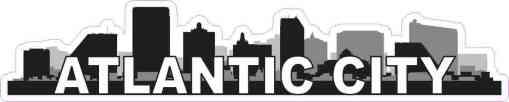 Atlantic City Skyline Sticker