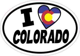 Oval I Love Colorado Sticker