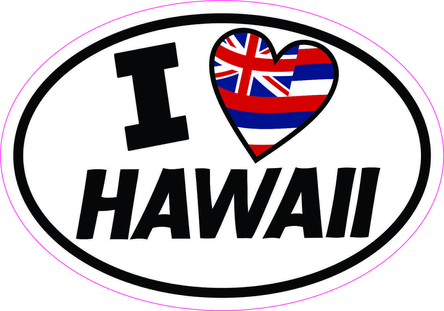 I Love Hawaii Bumper Stickers