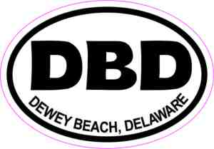 Dewey Beach Delaware sticker