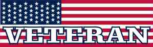 American Flag Veteran Bumper Sticker