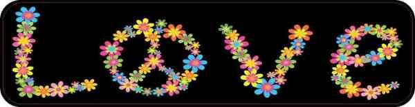 Floral Peace Sign Love Magnet