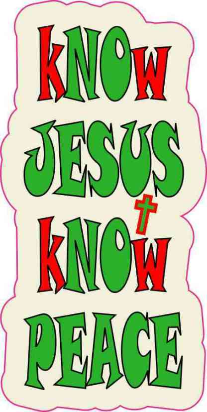Christmas Know Jesus Know Peace Sticker