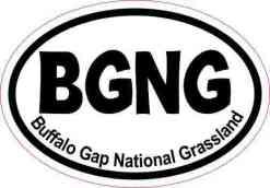 Inside Adhesive Oval BGNG Buffalo Gap National Grassland Sticker