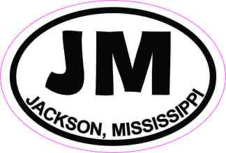 Oval JM Jackson Mississippi Sticker