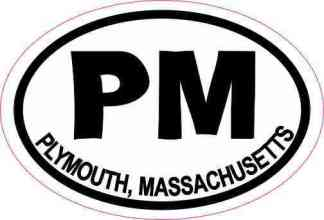 Oval PM Plymouth Massachusetts Sticker