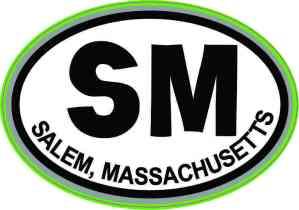 Green Oval SM Salem Massachusetts Sticker
