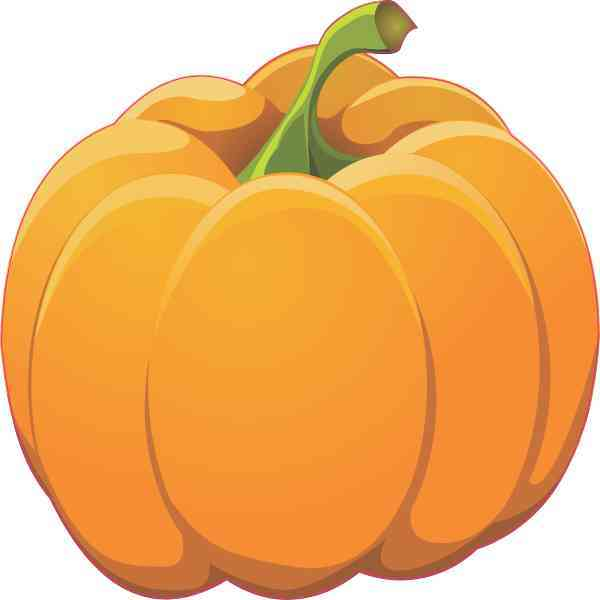 Right Stem Pumpkin Sticker