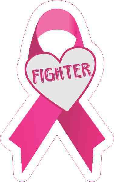 Fighter Breast Cancer Ribbon Sticker