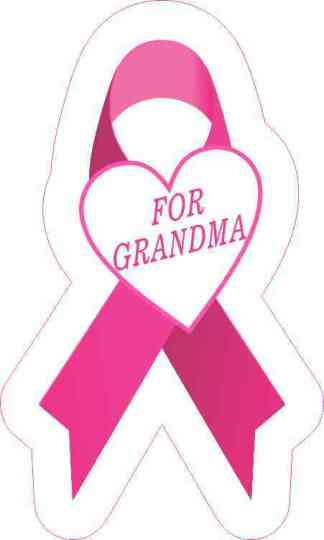 For Grandma Breast Cancer Ribbon Sticker