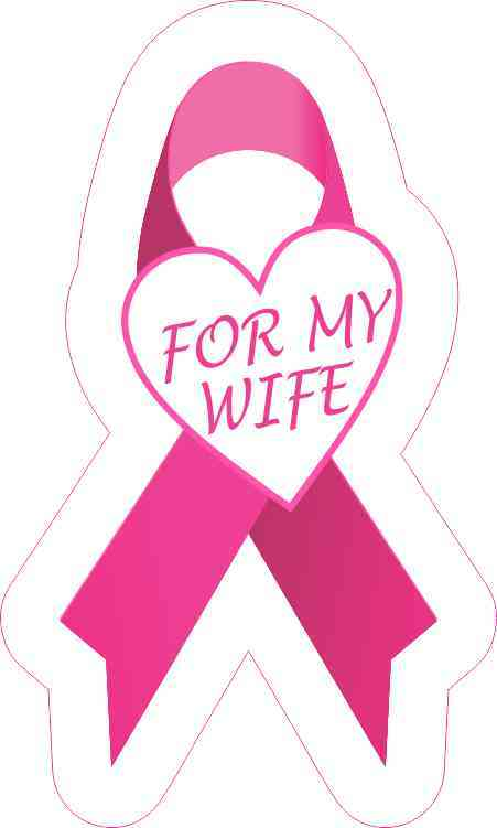 For My Wife Breast Cancer Ribbon Sticker