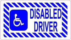 Disabled Driver Sticker