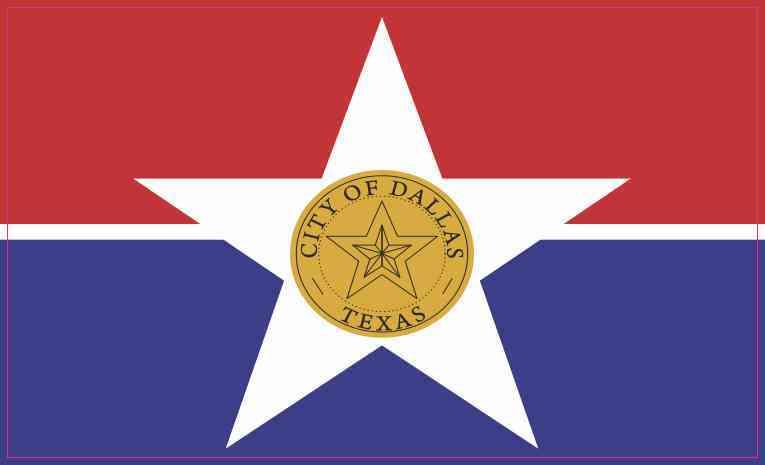 Dallas Texas Flag Magnet