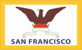 San Francisco California Flag Sticker
