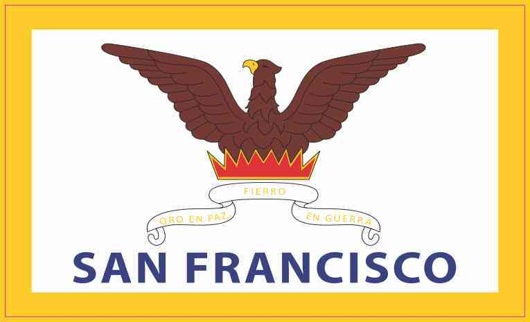 San Francisco California Flag Magnet
