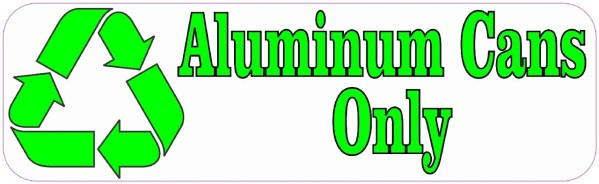 Aluminum Cans Only Recycle Magnet