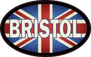 Oval UK Flag Bristol Sticker