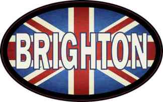 Oval UK Flag Brighton Sticker