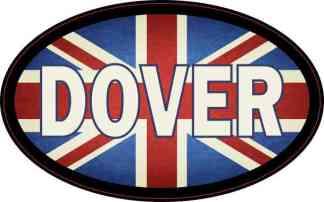 Oval UK Flag Dover Sticker