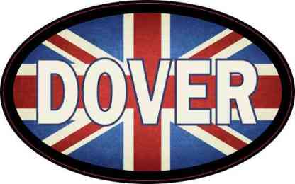 Oval UK Flag Dover Sticker