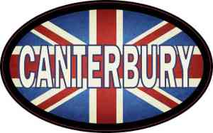 Oval UK Flag Canterbury Sticker