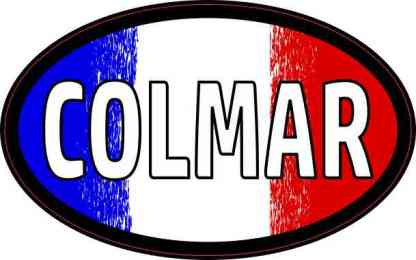 Oval French Flag Colmar Sticker