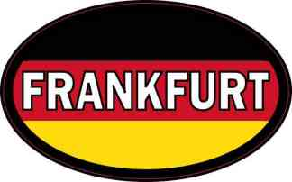 Oval German Flag Frankfurt Sticker